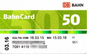 Die grüne Bahncard 50