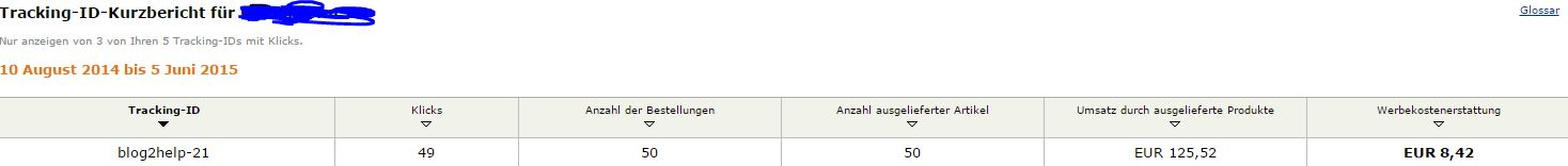 Blog2Help Amazon einnahmen Bilanz16
