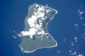 Die Insel Taʻū von oben.