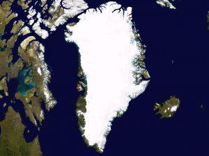 Satellitenbild des Grönländischen Eisschilds