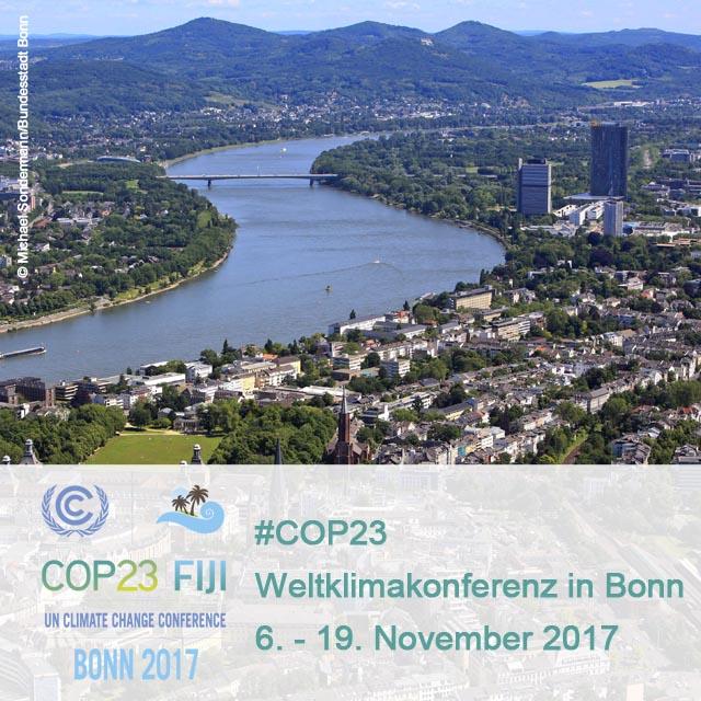 Panorama von Bonn mit den Infos vom COP 23