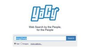 Die Suchmaske von Yacy