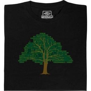 Ein T-Shirt mit einem Baum aus 1en und 0en