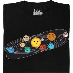 T-Shirt mit Planetensystem drauf