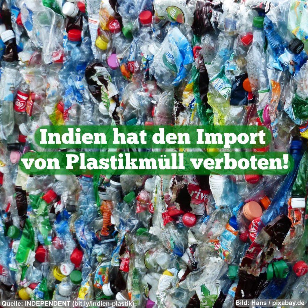 Meme: Indien hat den Import von Plastikmüll verboten