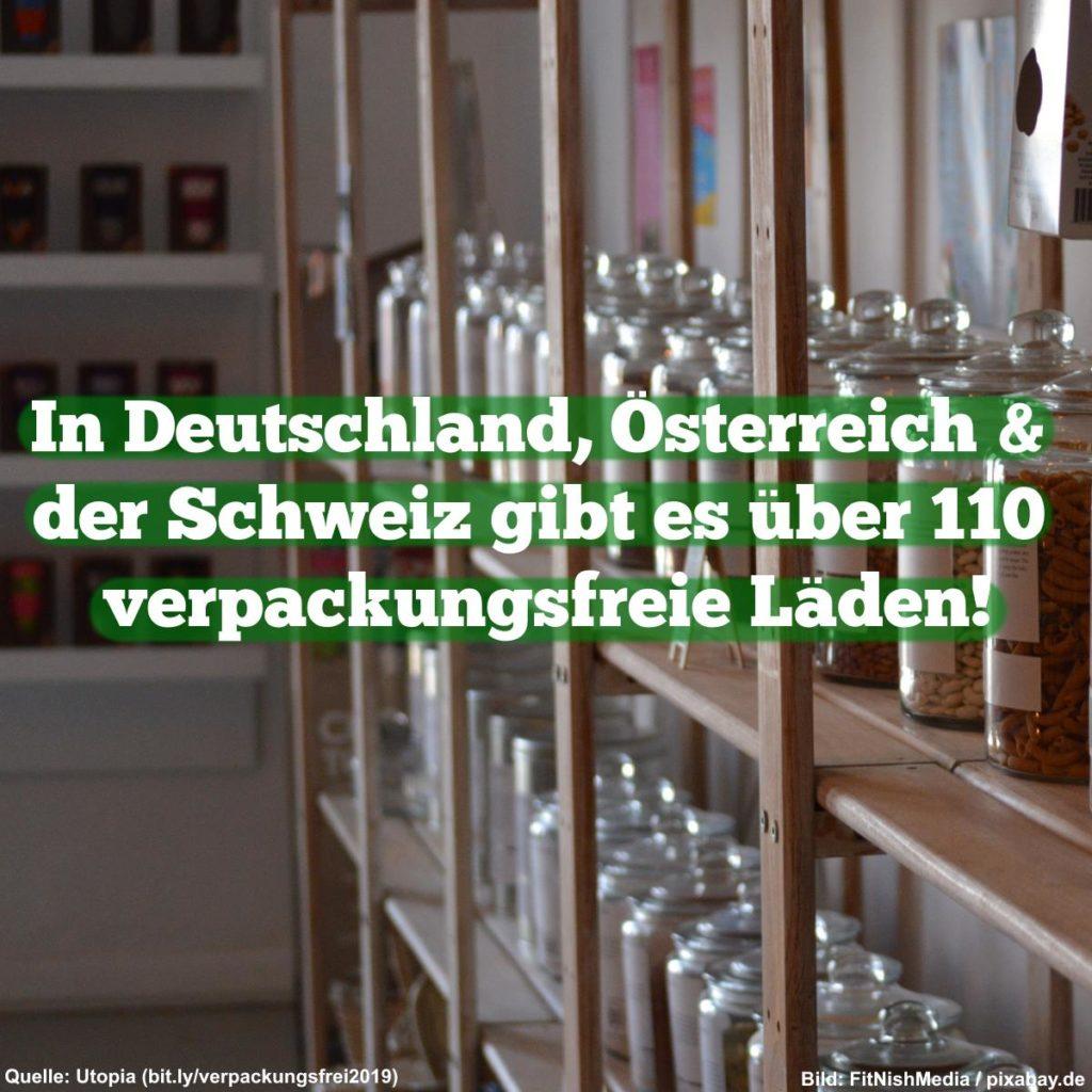In Deutschland, Österreich und der Schweiz gibt es über 110 plastikfreie Läden!