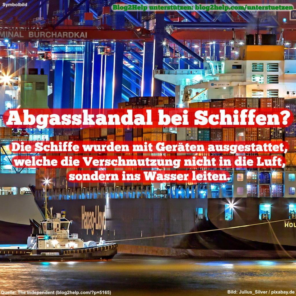 Abgasskandal bei Schiffen?