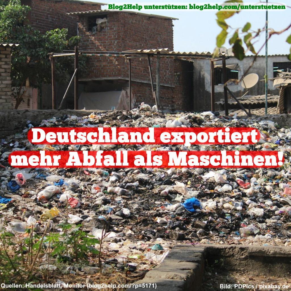 Deutschland exportiert mehr Abfall als Maschinen