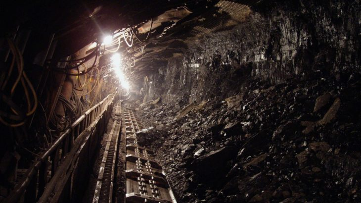 Kohleschacht einer Kohlemine