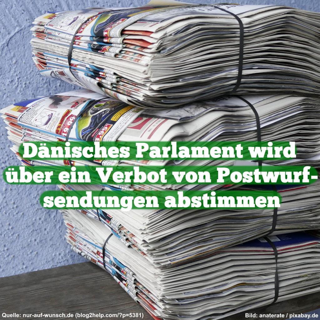 Dänisches Parlament wird über Verbot von Postwurfsendungen abstimmen