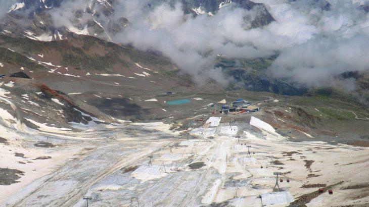 Skigebiet das die Umwelt zerstört