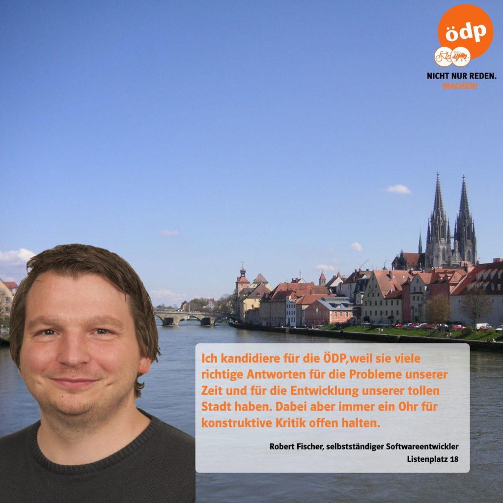 Robert Fischer von der ÖDP Regensburg