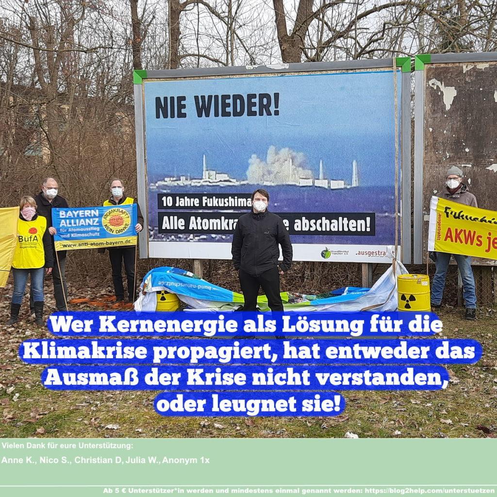 Wer Kernenergie als Lösung für die Klimakrise propagiert, hat entweder das Ausmaß der Krise nicht verstanden, oder leugnet sie!