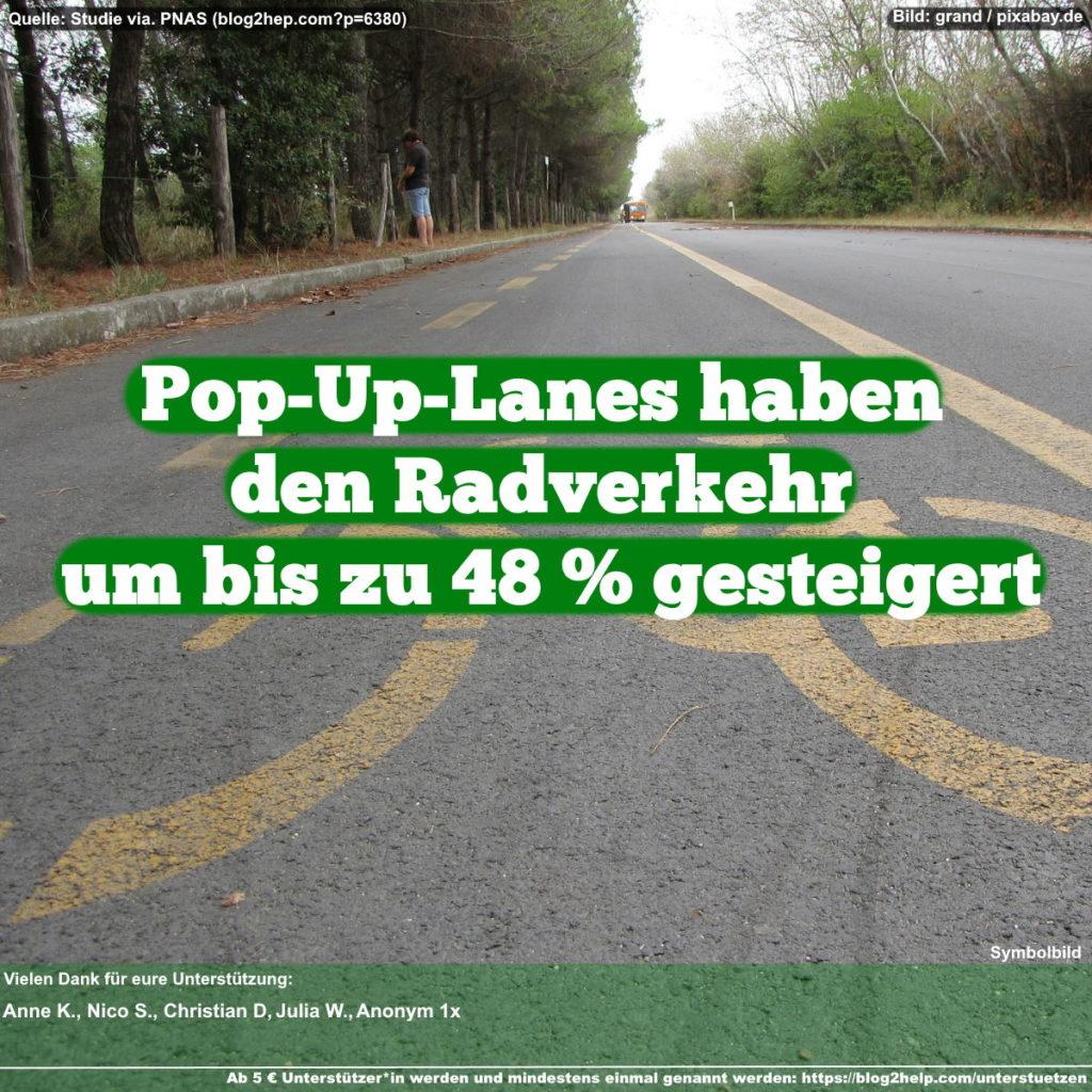 Pop-Up-Lanes haben den Radverkehr um bis zu 48 % gesteigert